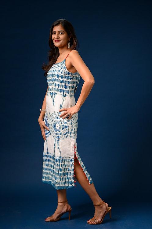 Strapy Shibori Dress