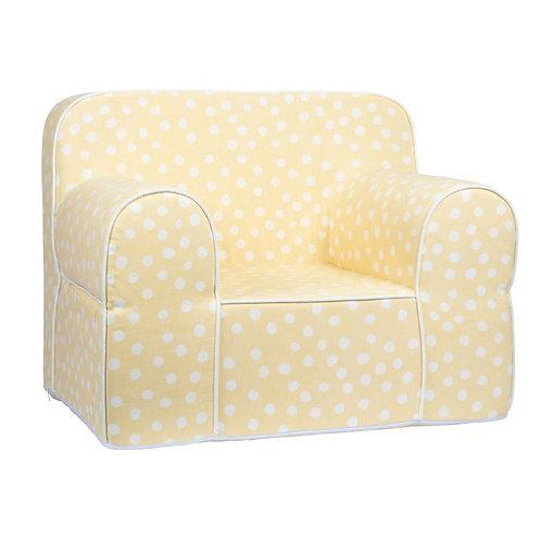 Kids Sofa  -Yellow Base white dot