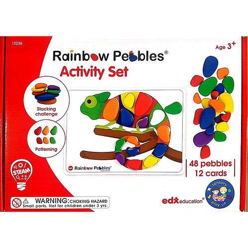 Rainbow Pebbles Activity Set (48 pebbles, 12 double-sided A4 size Activity cards