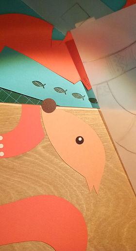 Handmade art for kids on wood