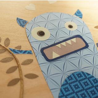 Monster nursery wood wall art