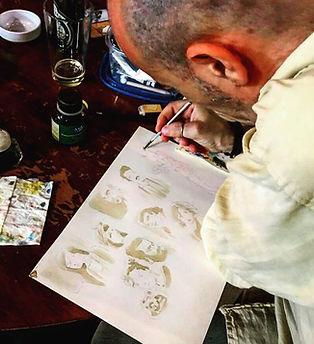 Autore Claudio VaL al lavoro