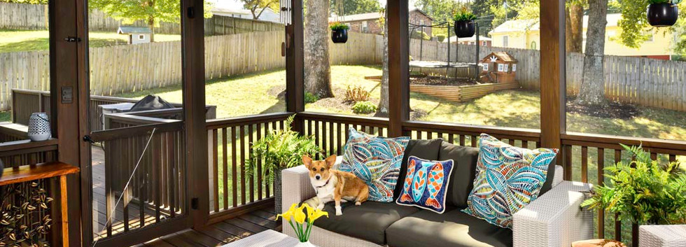 Updated outdoor living space