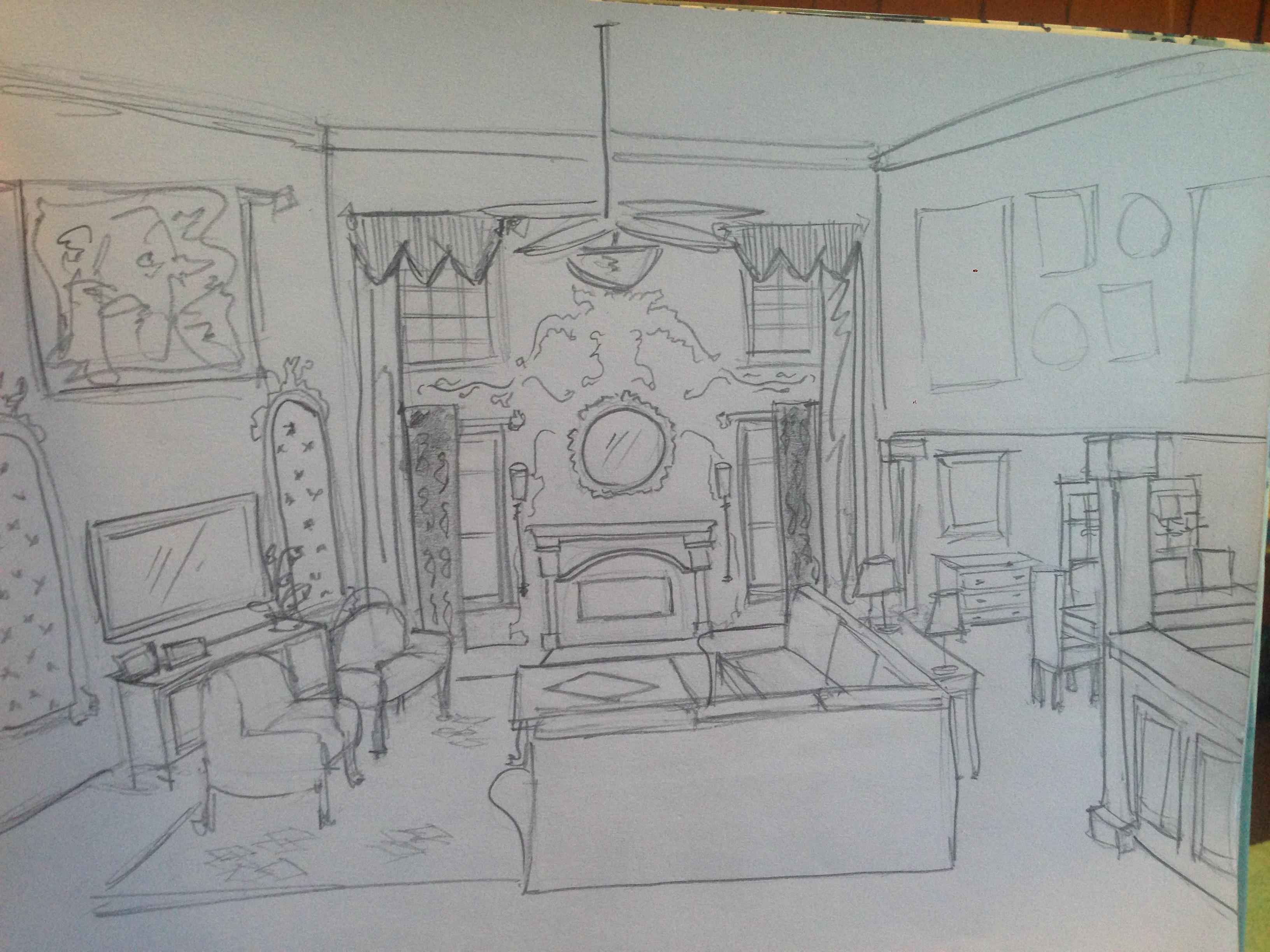 Sketch of Living Room Redo