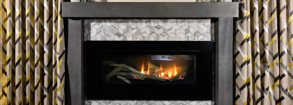 Custom Concrete and gas fireplace