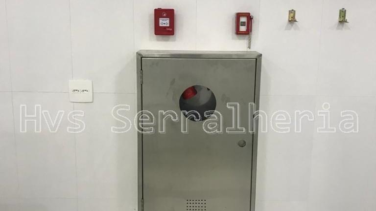 Caixa Hidrante Externa em aço inox