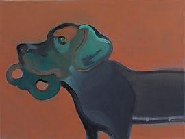 Cane con maschera 2 Tela di Giovanni Rizzo