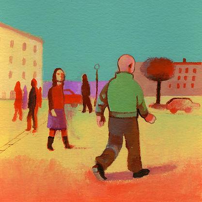 Illustrazione di Giovanni Rizzo per racconto di Paolo Nori