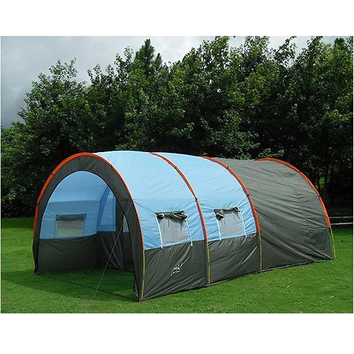 Large Camping tent Waterproof Canvas Fiberglass 5-8 People Family Tunnel 10