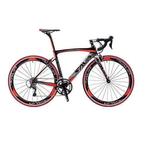 SAVA 700C Carbon Fiber Road Bike SHIMANO SORA R3000 18 Speed
