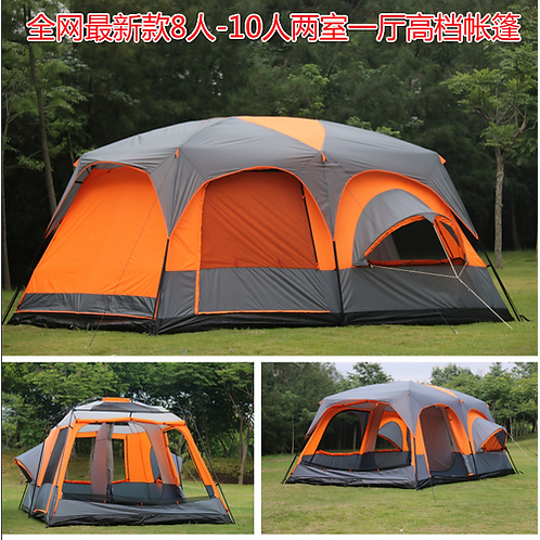 Luxury ultralarge high quality one hall two bedrooms 6 8 10 12 outdoor camping