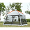 Thumbnail: High quality single layer 5-8person family party gardon beach camping tent
