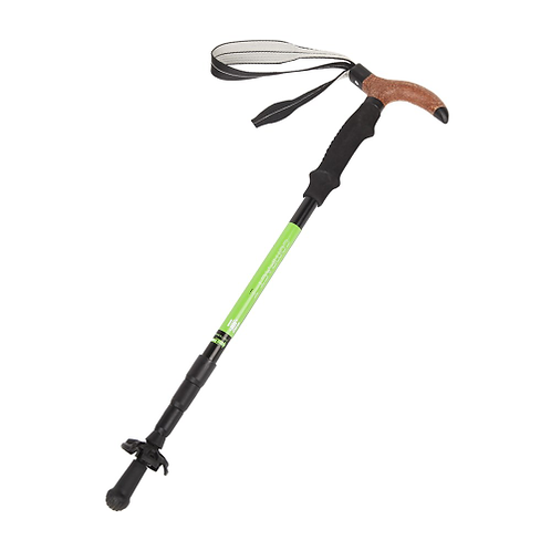 KingCamp 2Pcs/lot Anti Shock Walking Stick Cork T-handle Aluminum Hiking