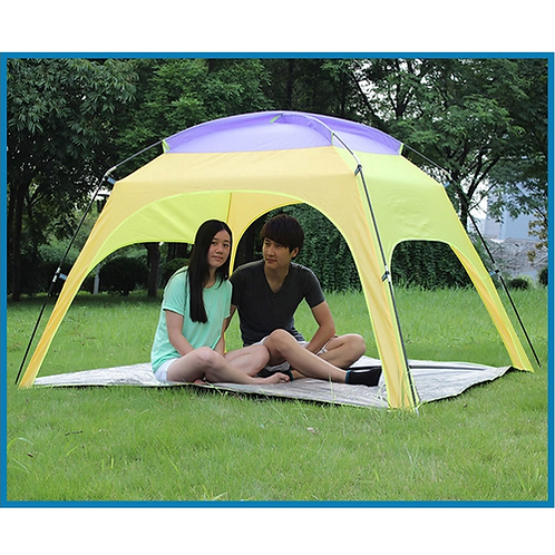 Tri-polar 4People Beach Tent Ultralight Beach Camping Tent Sun Shelter Large Out