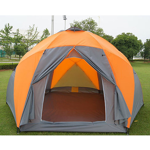 Large camping tent 5 - 8 person garden tent Double layer Three doors outdoor