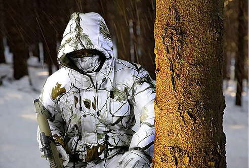 TPRPST Winter Waterproof Breathable Snow Camouflage Hunting Suits Ski Suit Thick
