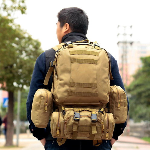 Free Shipping Lixada 50L Outdoor Military Molle Tactical Backpack Rucksack