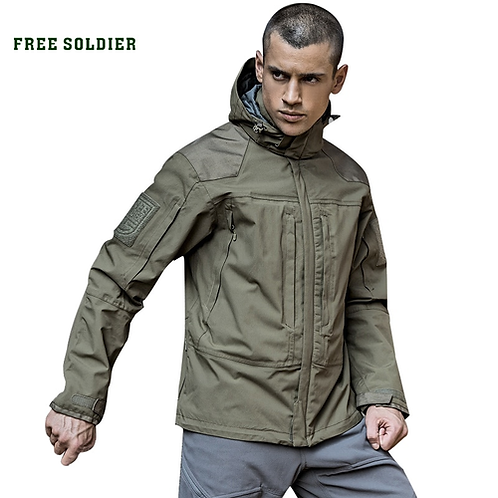 FREE SOLDIER outdoor tactical with warm lining jacket, wear-resistant