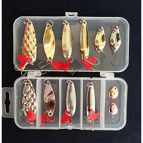 Hot New Multi Fishing Lure Mixed Colors Plastic Metal Bait Soft Lure Kit Fishing