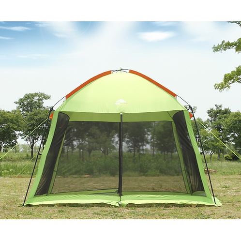 High quality single layer 5-8person family party gardon beach camping tent