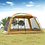 Thumbnail: August Guide Series Ultralarge 5-8 Person Large Gazebo Camping Tent Beach Tent