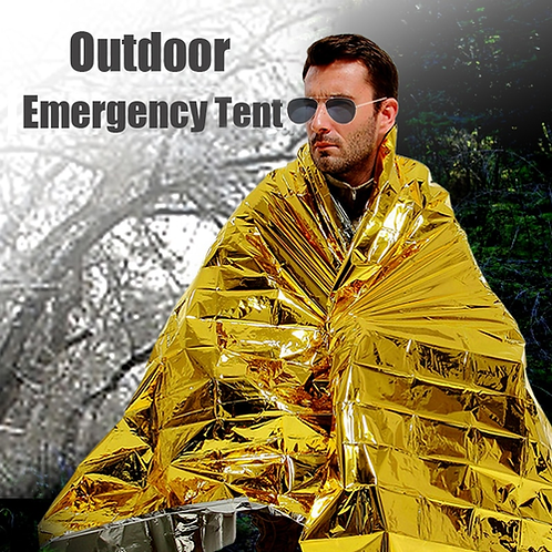 140 x 210cm Outdoor camping equipment Emergency Cold-proof Waterproof Blanket