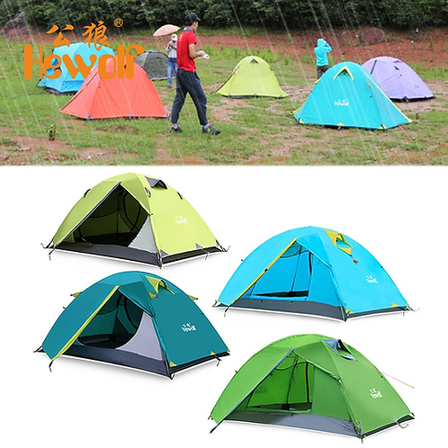 Hewolf Professional Waterproof Outdoor Double Layer 2 Person Tents Hunting