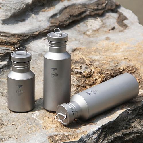 Keith 400ml/550ml/700ml Titanium Water Bottle for Outdoor Camping Titanium Sport