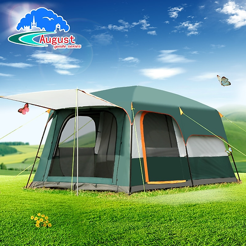 AUGUST outdoor equipment, 5 people, 6 people, 8 people, two rooms, one bedroom