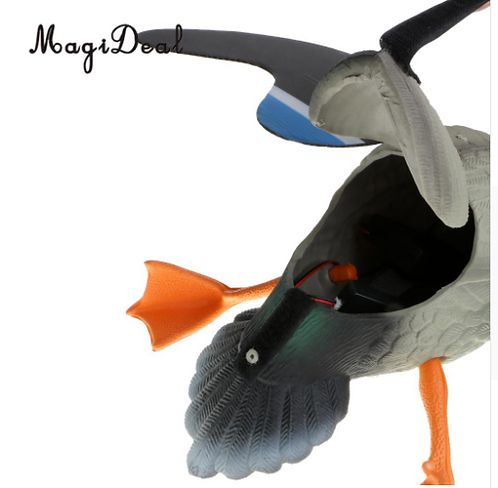MagiDeal Hunting Duck Decoy Electric Flying Duck Decoy Remote Control Male Duck