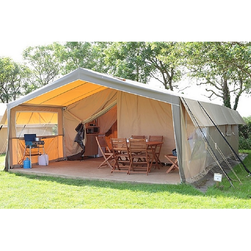 Outdoor Tourist Canvas Safari Tent 7.3x4.6m Glampling Tent Luxury Resort Tent