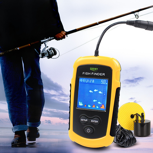 Free Shipping! FFC1108-1 Hot Sale Alarm 100M Portable Sonar LCD Fish Finders