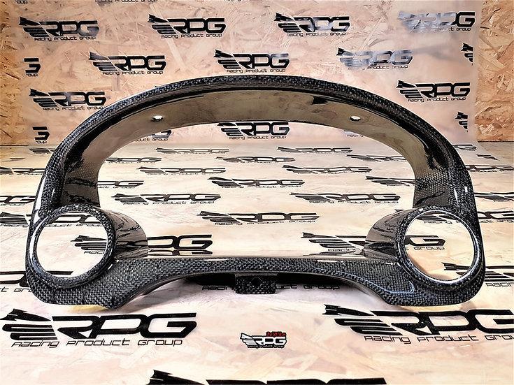 Civic EK Vacuum Carbon 52mm Dual Gauge Pod Dash Cluster Bezel