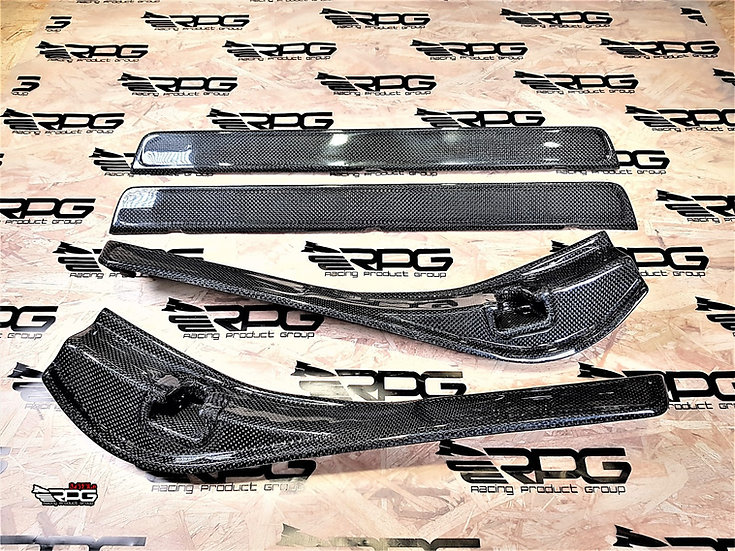 GR / GV 4 pcs Vacuum Carbon OUTTER Door Sill Clip-On Replacement Cover Set