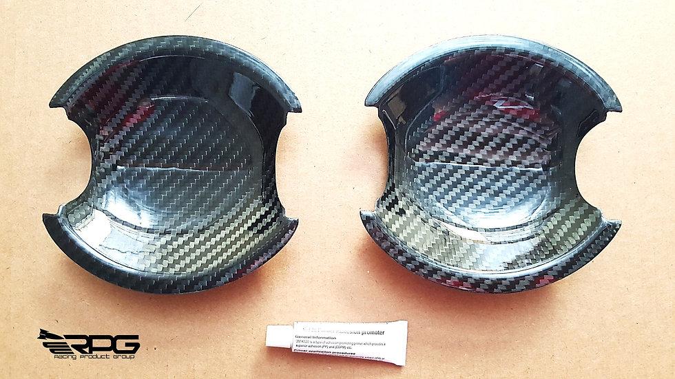 Carbon Door Handle Bowl Cover Trim Protec