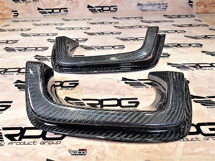 SS Carbon Fiber Rear Bumper Dual Exhaust Heat Shield