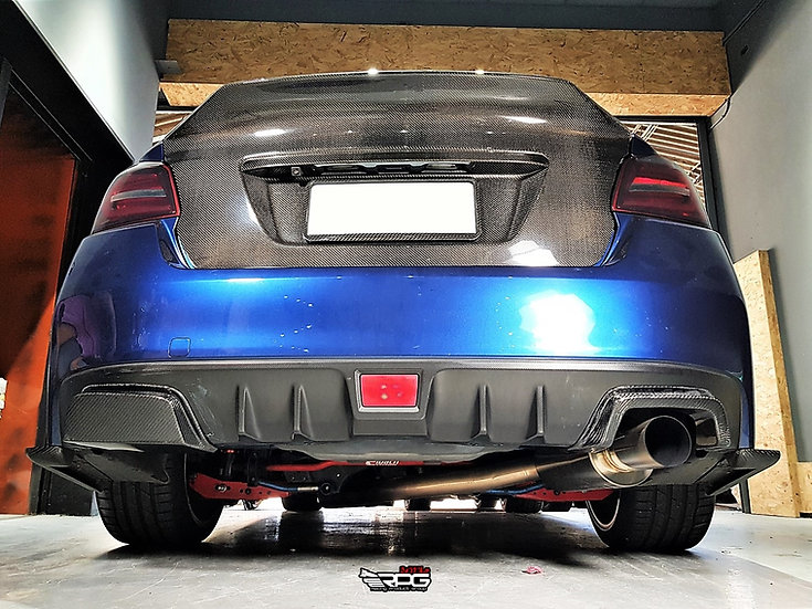 SS Carbon Fiber Rear Bumper Single Exhaust Heat Shield