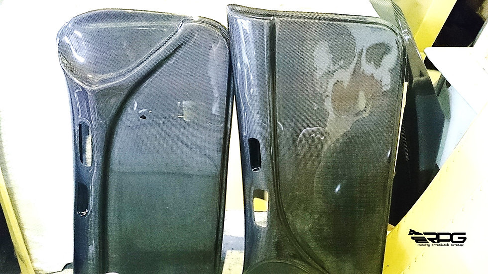 Carbon Fiber RR Door Panel Set