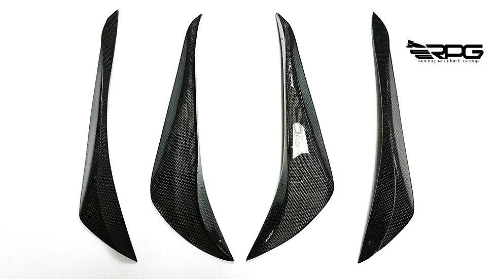 Front Bumper 4PCS Dry Carbon Canard Set