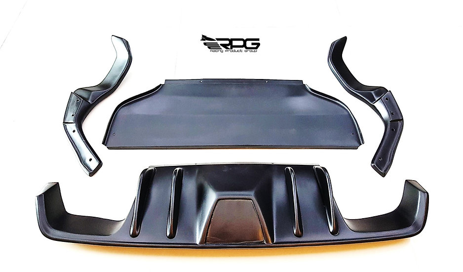 GR Chassis - FRP Road Rage RR Rear 4 Pieces Under Diffuser Kit