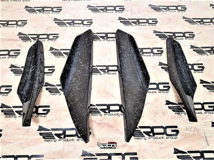 GDF GTA 4PCS Vacuum Carbon Canard Set