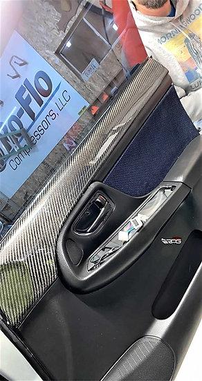 GD Chassis 4pcs Vacuum Carbon Door Card Upper Cover Set