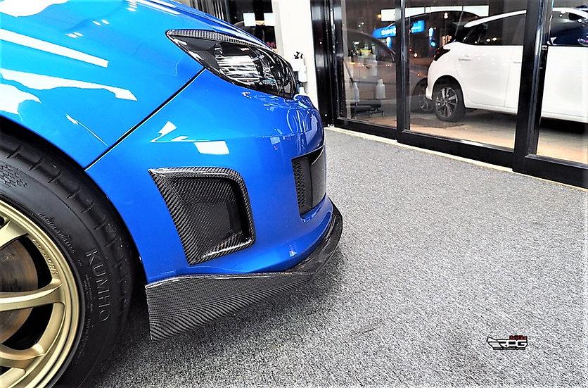 Bumper Carbon Fiber Air Duct Vent Set