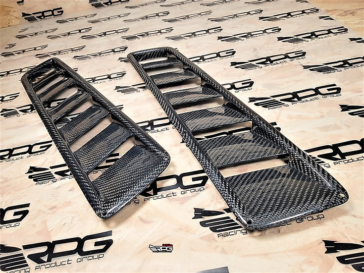Road Rage RR Series Vacuum Carbon Hood Vent Heat Extractor Set