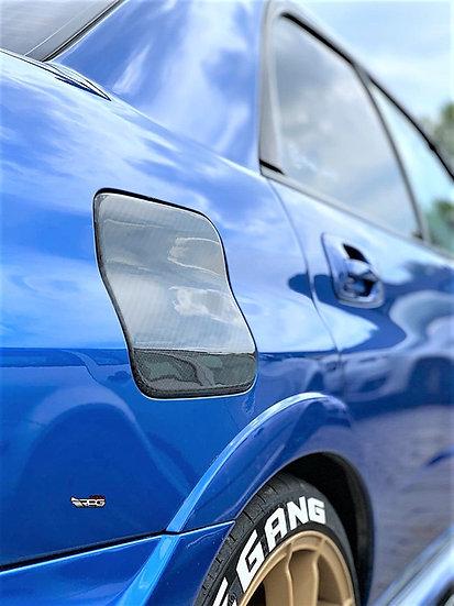 GD Sedan Chassis Carbon Fiber Fuel Door Cover