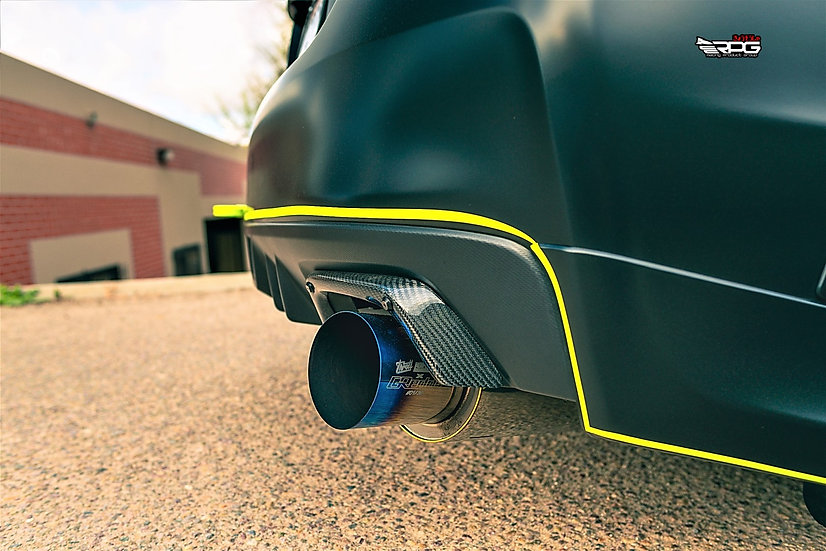 Carbon Fiber Rear Bumper Exhaust Heat Shield