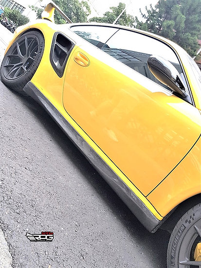 997 GT3 RS Style Vacuum Carbon Side Skirt Set for Turbo Model