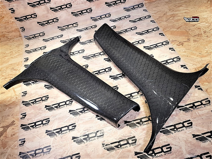 GD Chassis 2pcs Vacuum Carbon B Pillar Lower Trim Set (Replacement)