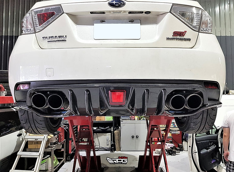 GR Chassis- Vacuum Carbon Road Rage RR Rear 4 Pieces Under Diffuser Kit