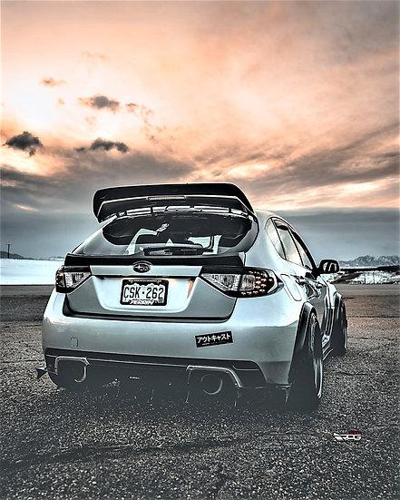 JDM Carbon Fiber Trunk Tailgate Mid Spoiler Wing